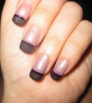 The Winter Blues French Nail Manicure Simple Nail Designs