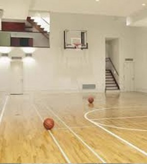 How you can install indoor basketball courts finesse corner for Indoor basketball court installation